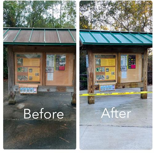 Before & After front menu stand sanitizing cleaning
