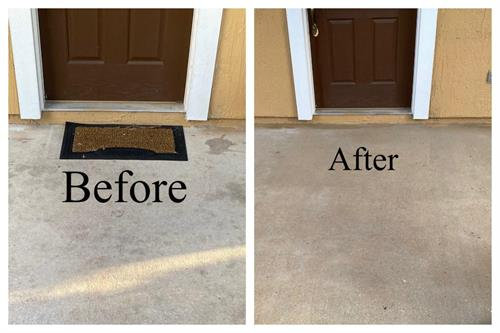 before and after walkway cleaning treatment