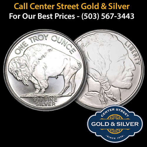 One ounce Silver Buffalo