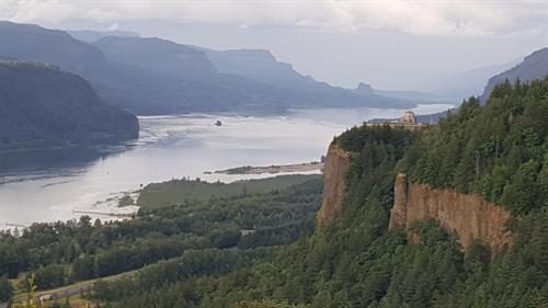 The nearby gorgeous Columbia Gorge and view of Crown Pointe