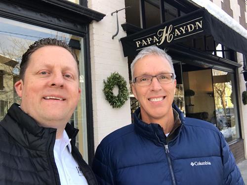 Patrick and Jeff Schneider, Sandler sales trainer.
