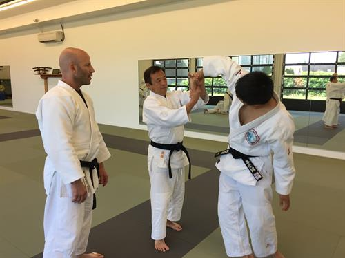 Mr. Lekas and Mr. Lam working with Mr. Tadayuki Satoh, Head Instructor at Waseda University.