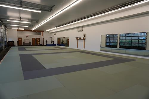"Our dojo features 2,200 square feet of Japanese Tatami supported by a ""sprung floor."""