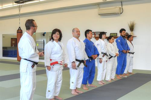 A picture of Mr. Martyn with the guest instructors who traveled from Japan for our grand opening!