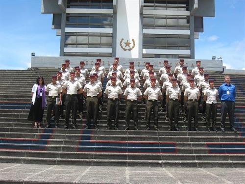 Working with the Guatemalan Army