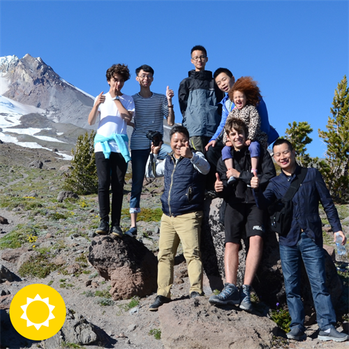 Summit Academy teachers and staff hiking Mt. Hood. To the top!