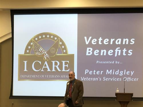 March 2018 Discussion Series - Veterans Benefits - Peter Midgley