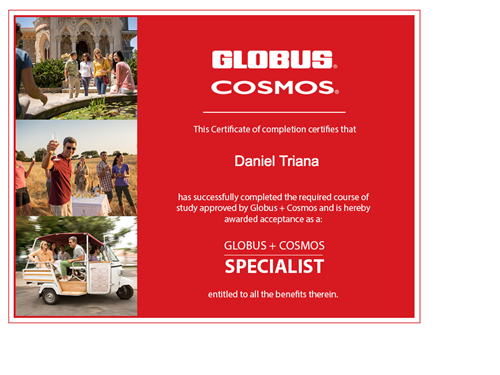 Gobus/Cosmos/Monogram Land Tours Specialist Certification