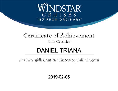 Windstar Specialist Certification