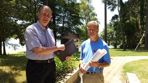 Making plans Stephen Ege and  Ed Hankey