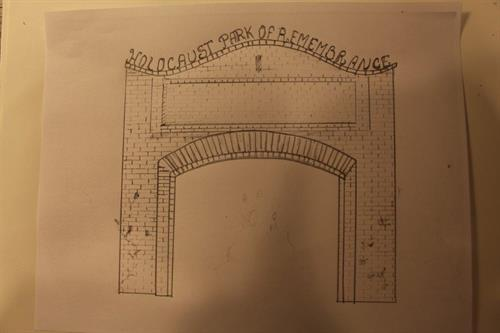 drawing of future entance gate