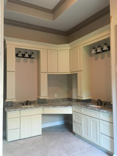 Custom Bathroom Cabinetry w/ Built in