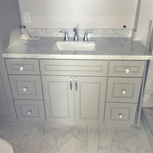 Bathroom Vanity w/ 3 Drawer Base Cabinetry