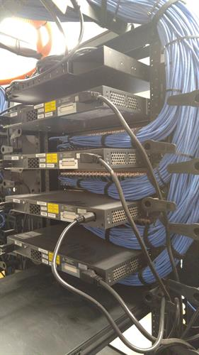 Structured cabling at Tejas Toyota