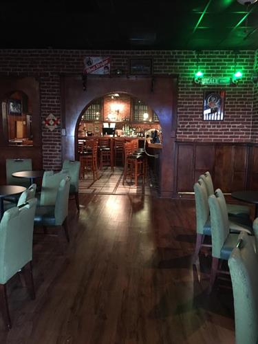 Green Oaks Tavern from the front looking back to the bar area