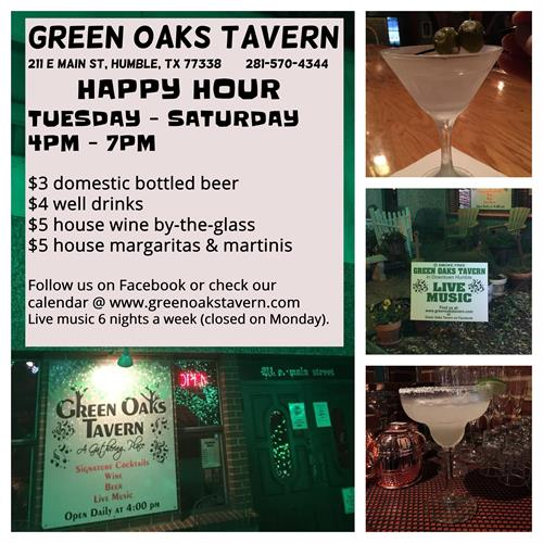 Green Oaks Taven Happy Hour Info