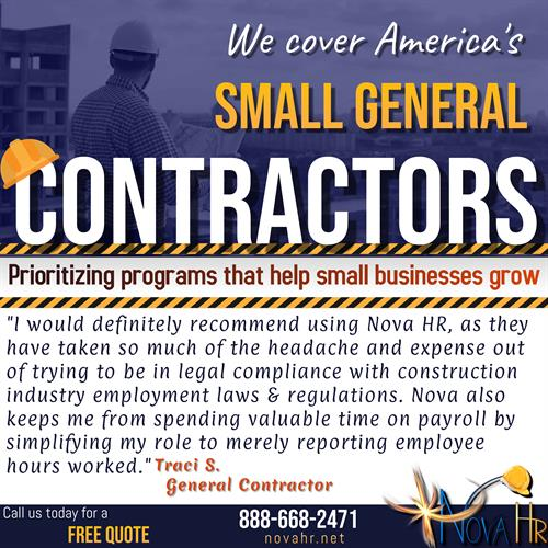 Specialized Work Comp Program for Small Contractors