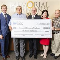Memorial Hermann Foundation Receives $10 Million Donation From Northeast Hospital Authority Board for Women's Services Renovation and Expansion at Memorial Hermann Northeast