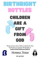Birthright Humble Texas Baby Bottle Fundraiser