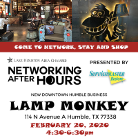 Chamber members invited to free networking event on February 20 hosted by Lamp Monkey