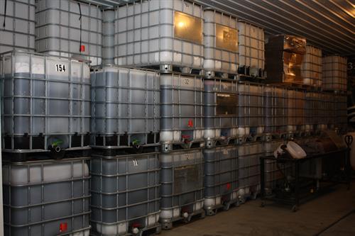 Tanks of wine