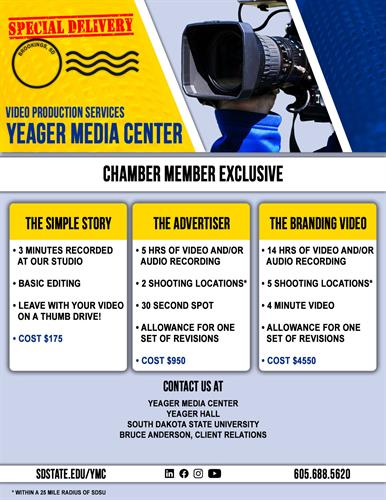 Special pricing for Chamber Members