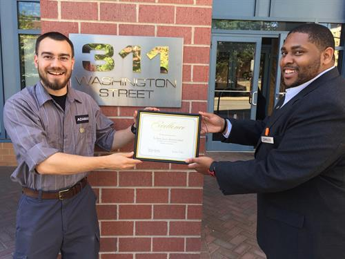 "Employee Recognition:  ""Safety Award"""