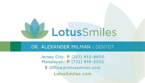 Lotus Smiles Business Card
