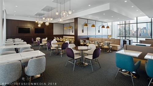 Hyatt House Jersey City Hotel Breakfast Seating Area