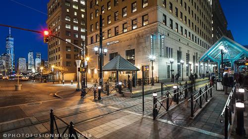 Hyatt House Jersey City Hotel Building Exterior Main Entrance