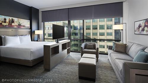 Hyatt House Jersey City Hotel King Studio Suite