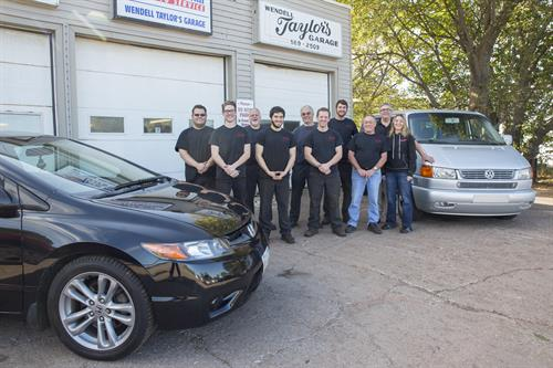 Staff at Wendell Taylor's Garage Ltd