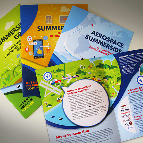 Brochure design and copywriting for Summerside economic sectors