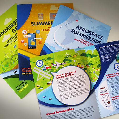 Brochure design and copywriting for Summerside economic sectors