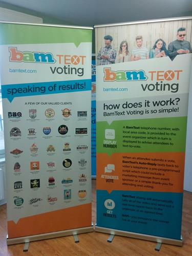 BamText banners on SMS Voting