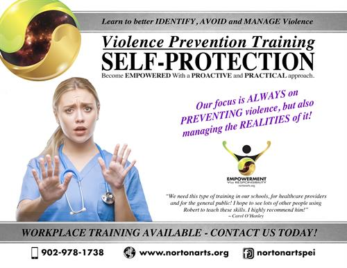 Norton Arts Workplace Violence Prevention | Self-Protection Training in PEI for Healthcare