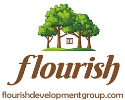 Flourish logo with web site address