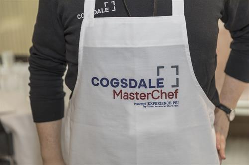 "Customized aprons for our ""MasterChef"" Challenge"