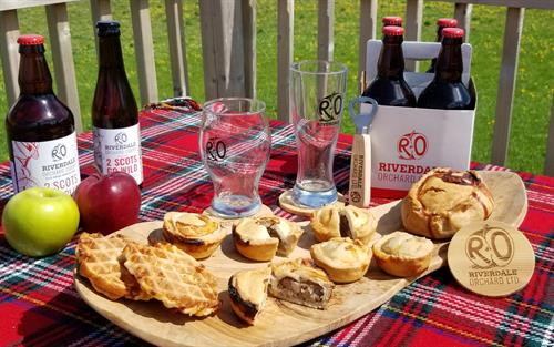 Riverdale Orchard's Traditional Pork Pies. Enjoy on their own or with pickles and salad. Available to purchase online.