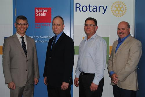 Rotary Clubs of Charlottetown supporting accessible change space renos