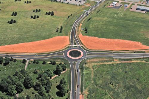 Charlottetown Airport Roundabout and Entrance Road