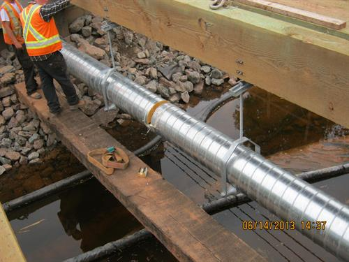 Insulated Sewage Forcemain