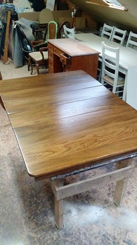 The same elm table after it was restored