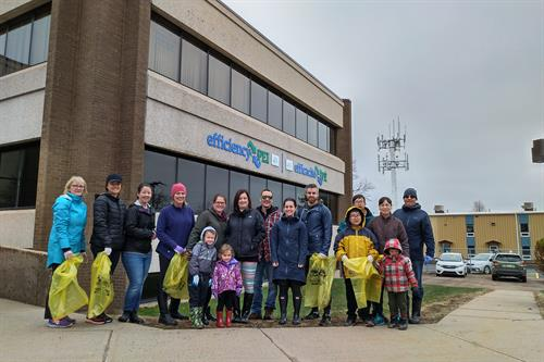 efficiencyPEI and PEI Energy Corporation staff and family take part in the Women's Institute Roadside Clean Up - May 11, 2019
