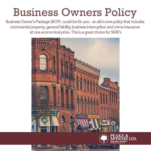 Business Owners Policy BOP