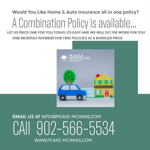 Combination Policy - Home & Auto