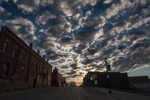 Main Street Skyline; Lake Mills, Iowa. Photo Cred: Lorinda Groe