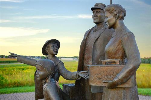 The Promise of America sculpture, Lake Mills, Iowa. Photo Cred: Lorinda Groe