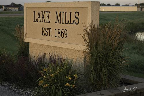 Welcome to Lake Mills, Iowa! Photo Cred: Lorinda Groe