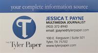 Jessica T Payne - Tyler Paper Reporter